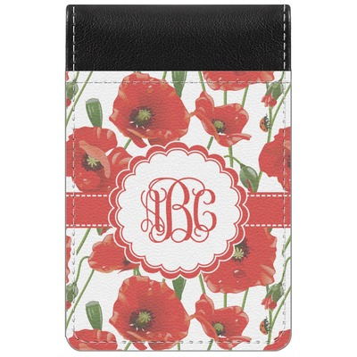 Poppies Genuine Leather Small Memo Pad (Personalized)