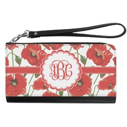 Poppies Genuine Leather Smartphone Wrist Wallet (Personalized)