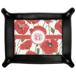 Poppies Genuine Leather Valet Tray (Personalized)