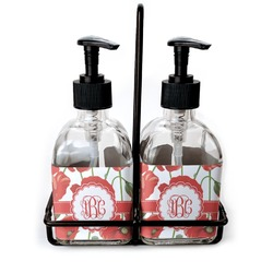 Poppies Soap/Lotion Dispensers (Glass) (Personalized)