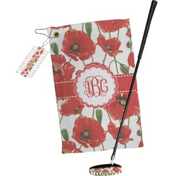 Poppies Golf Towel Gift Set (Personalized)