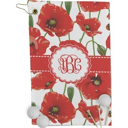 Poppies Golf Towel - Full Print (Personalized)
