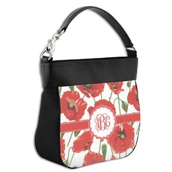 Poppies Hobo Purse w/ Genuine Leather Trim (Personalized)