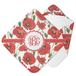 Poppies Hooded Baby Towel (Personalized)