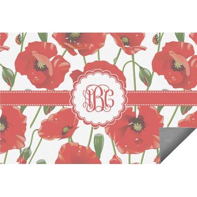 Poppies Indoor / Outdoor Rug (Personalized)