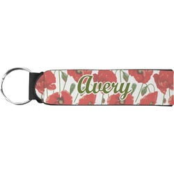 Poppies Neoprene Keychain Fob (Personalized)