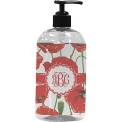 Poppies Plastic Soap / Lotion Dispenser (16 oz - Large) (Personalized)