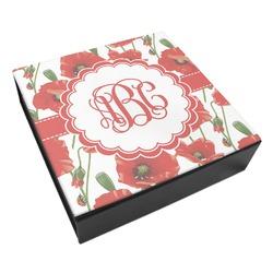 Poppies Leatherette Keepsake Box - 3 Sizes (Personalized)