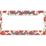 Poppies License Plate Frame - Style B (Personalized)