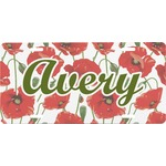 Poppies Front License Plate (Personalized)