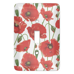 Poppies Light Switch Covers - Multiple Toggle Options Available (Personalized)