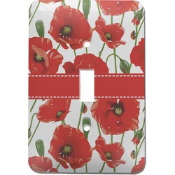 Poppies Light Switch Cover (Single Toggle) (Personalized)