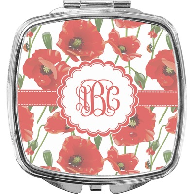 Poppies Compact Makeup Mirror (Personalized)