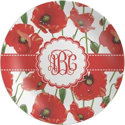 Poppies Melamine Plate (Personalized)