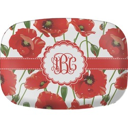 Poppies Melamine Platter (Personalized)