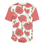 Poppies Men's Crew T-Shirt (Personalized)