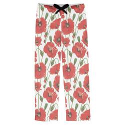 Poppies Mens Pajama Pants (Personalized)