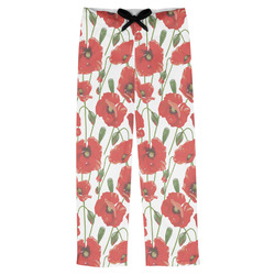 Poppies Mens Pajama Pants (Personalized)