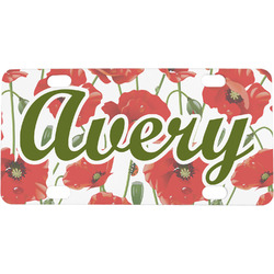Poppies Mini License Plate (Personalized)