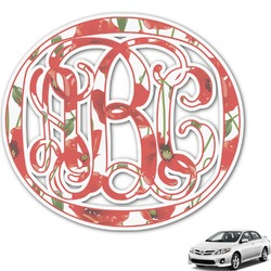 Poppies Monogram Car Decal (Personalized)