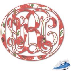 Poppies Monogram Iron On Transfer (Personalized)