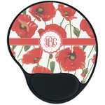 Poppies Mouse Pad with Wrist Support