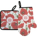 Poppies Oven Mitt & Pot Holder (Personalized)