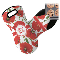 Poppies Neoprene Oven Mitt (Personalized)