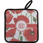 Poppies Pot Holder w/ Monogram