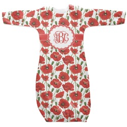 Poppies Newborn Gown - 3-6 (Personalized)