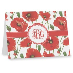 Poppies Note cards (Personalized)
