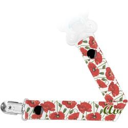 Poppies Pacifier Clips (Personalized)