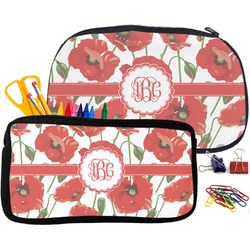 Poppies Pencil / School Supplies Bag (Personalized)