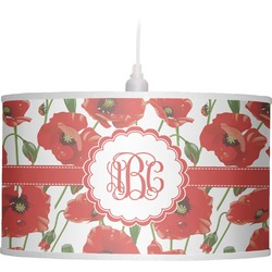 Poppies Drum Pendant Lamp (Personalized)
