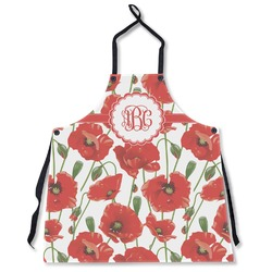 Poppies Apron Without Pockets w/ Monogram