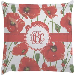 Poppies Euro Sham Pillow Case (Personalized)