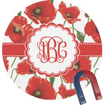 Poppies Round Magnet (Personalized)