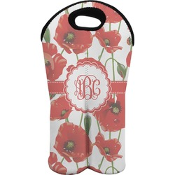 Poppies Wine Tote Bag (2 Bottles) (Personalized)