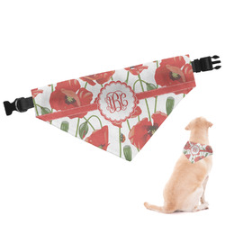 Poppies Dog Bandana - Large (Personalized)
