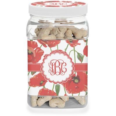 Poppies Dog Treat Jar (Personalized)