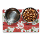 Poppies Dog Food Mat (Personalized)