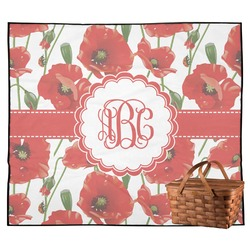 Poppies Outdoor Picnic Blanket (Personalized)