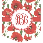 Poppies Iron On Faux Pocket (Personalized)