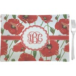 Poppies Rectangular Appetizer / Dessert Plate (Personalized)