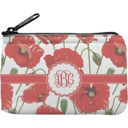 Poppies Rectangular Coin Purse (Personalized)