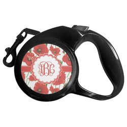 Poppies Retractable Dog Leash - Multiple Sizes (Personalized)