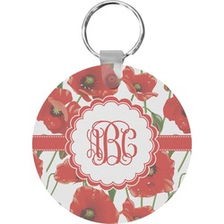 Poppies Round Keychain (Personalized)