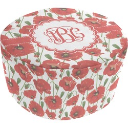 Poppies Round Pouf Ottoman (Personalized)