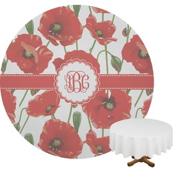 Poppies Round Tablecloth (Personalized)