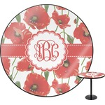 Poppies Round Table (Personalized)